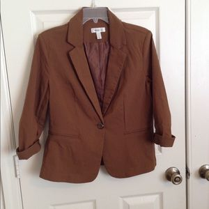 Dressbarn Brown one button blazer